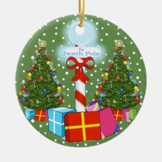 North Pole Christmas Ornament
