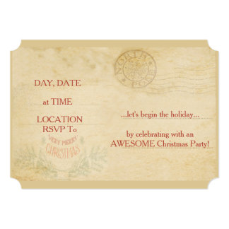 North Pole Christmas Party Invitations