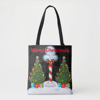 North Pole Christmas Tote Bag