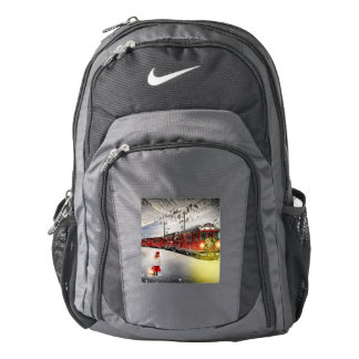 North pole express - christmas train - santa train backpack