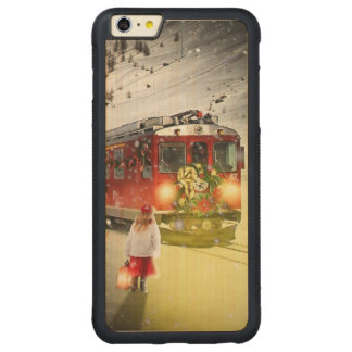 North pole express - christmas train - santa train carved maple iPhone 6 plus bumper case