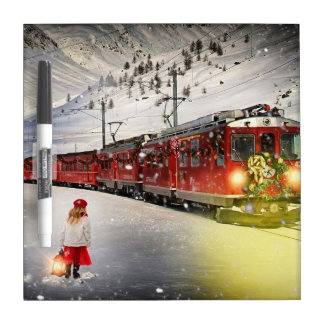 North pole express - christmas train - santa train dry erase board