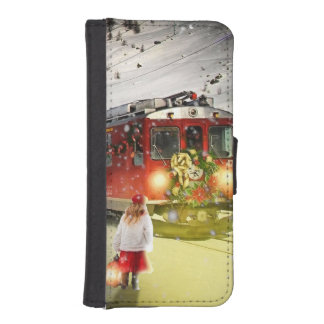 North pole express - christmas train - santa train iPhone SE/5/5s wallet case