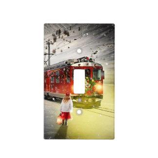 North pole express - christmas train - santa train light switch cover