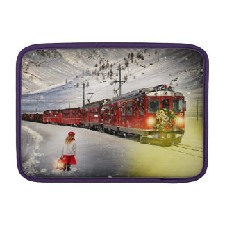 North pole express - christmas train - santa train MacBook sleeve