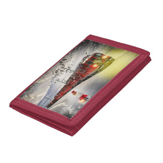 North pole express - christmas train - santa train tri-fold wallet