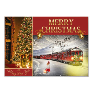 North pole express - Christmas tree  - Santa train Card