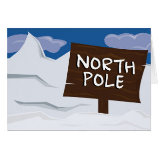 North Pole Illustration Holiday Card