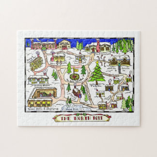 North Pole Map Jigsaw Puzzle