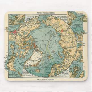 North Pole Map Mouse Pad