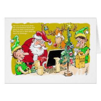 North Pole on Social Media belated Christmas card