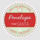 North Pole Productions Christmas Sticker Tags