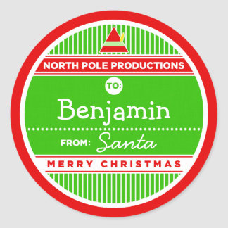 North Pole Productions Round Sticker