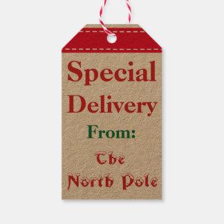 North Pole Santa Christmas Gift Tags