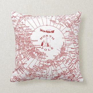 North Pole Santa Map Pillow