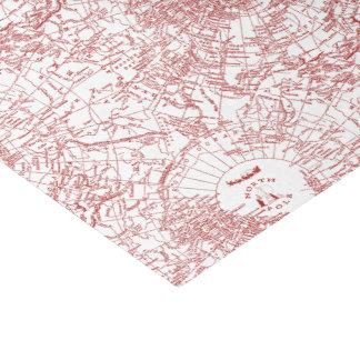 North Pole Santa Map Tissue Paper