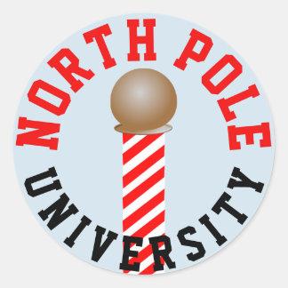 North Pole University Stickers