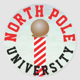 North Pole University Stickers