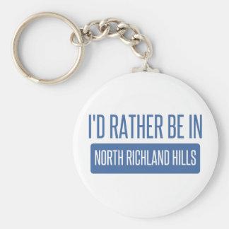 North Richland Hills Basic Round Button Keychain