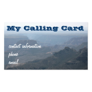 North rim view of the Grand Canyon Business Card