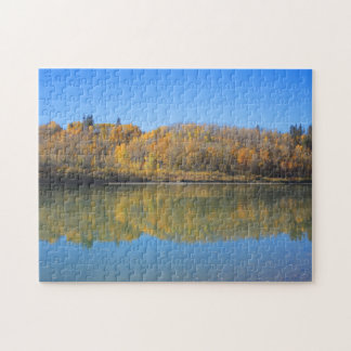 North Saskatchewan River - Autumn Jigsaw Puzzle