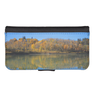 North Saskatchewan River in the fall iPhone 5 Wallet