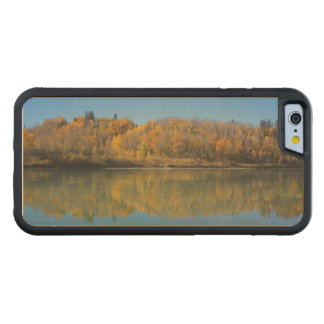 North Saskatchewan River in the fall Carved® Maple iPhone 6 Bumper