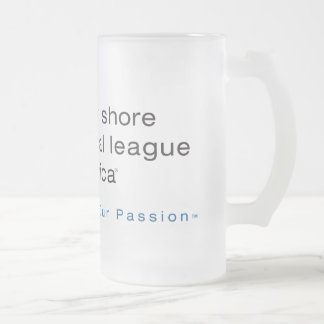 North Shore Animal League Branded 16 Oz Frosted Glass Beer Mug