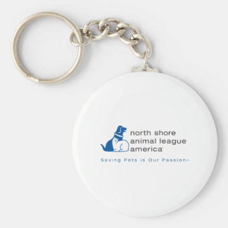 North Shore Animal League Branded Basic Round Button Keychain