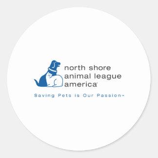 North Shore Animal League Branded Round Sticker