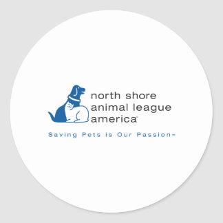 North Shore Animal League Branded Classic Round Sticker