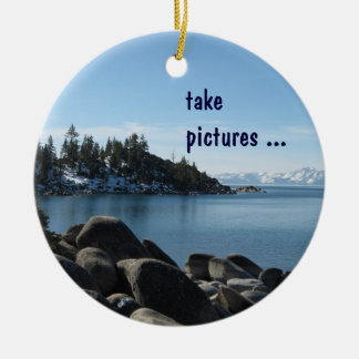 North Shore Lake Tahoe, Incline Village, Nevada Ceramic Ornament