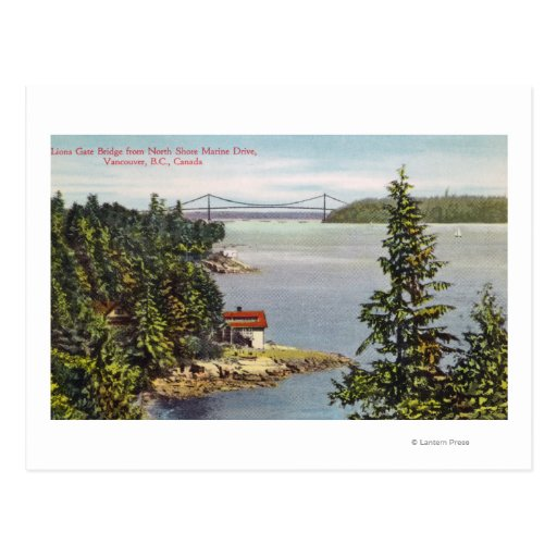 North Shore Marine Drive View of Lions Gate Post Cards