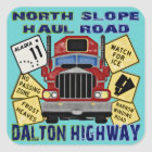 North Slope Haul Road Dalton Highway Square Sticker