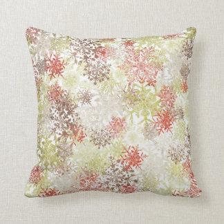 North Snowflakes & Damask Pillow