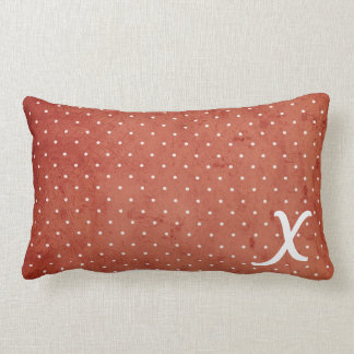 North Snowflakes & Polka Dot Monogram Pillow