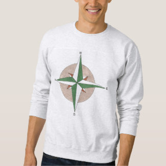 North South East West Hiking Compass Sweatshirt