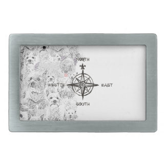 North South East & Westie Dog Belt Buckles