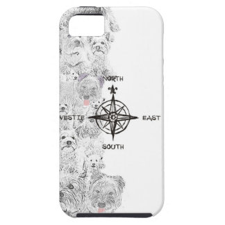 North South East & Westie Dog Case For The iPhone 5