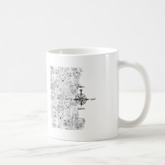 North South East & Westie Dog Coffee Mug