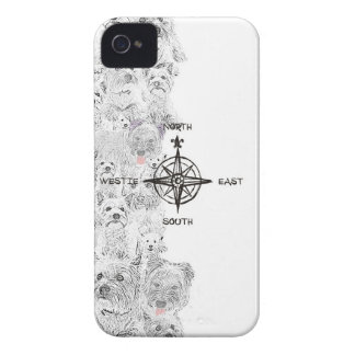 North South East & Westie Dog iPhone 4 Cases