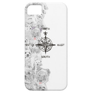 North South East & Westie Dog iPhone 5 Cover