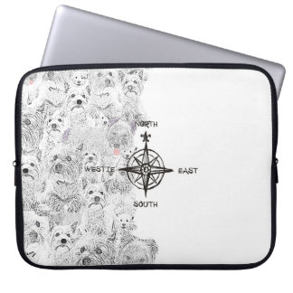 North South East & Westie Dog Laptop Sleeve