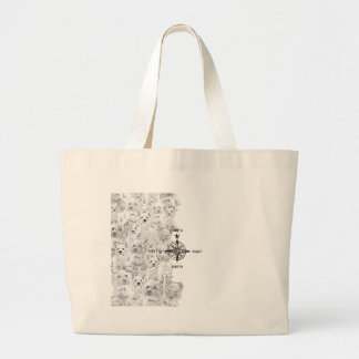 North South East & Westie Dog Large Tote Bag