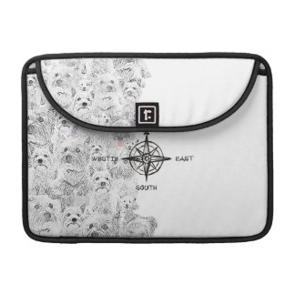 North South East & Westie Dog Sleeve For MacBook Pro