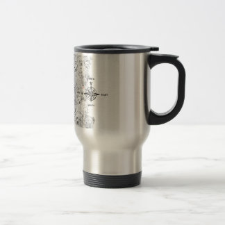 North South East & Westie Dog Travel Mug