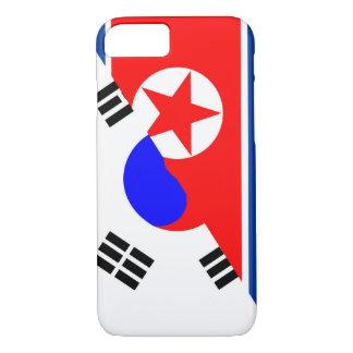 north south korea half flag country symbol iPhone 8/7 case