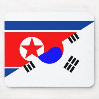 north south korea half flag country symbol mouse pad