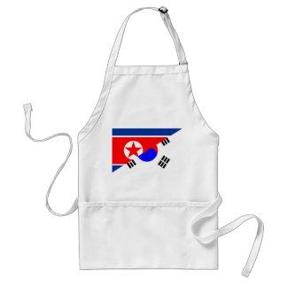 north south korea half flag country symbol standard apron