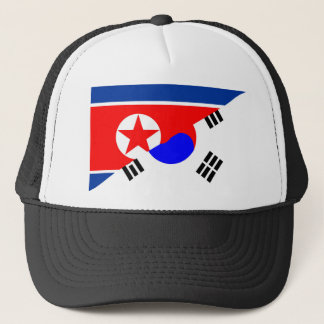 north south korea half flag country symbol trucker hat
